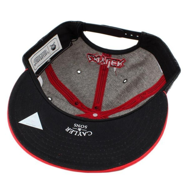 Boné Cayler And Sons Snapback Killa Kush Acid Washed Black/Red Snake
