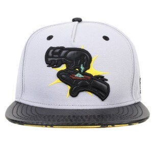 Boné Cayler And Sons Snapback GL Puff Puff Pow Cinza/Preto/Amarelo