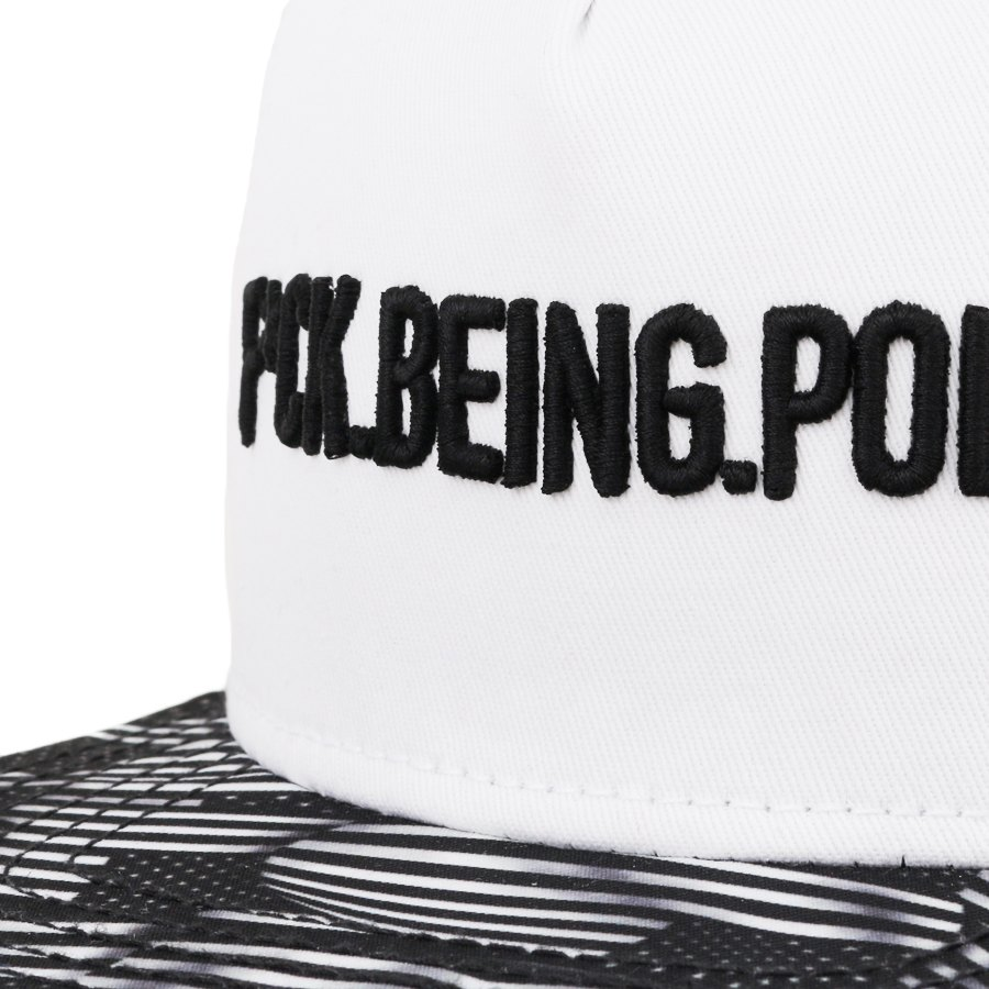 Boné Cayler And Sons Snapback Fuck Being Polite White/Printed
