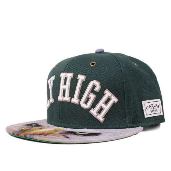 Boné Cayler And Sons Snapback Fly High Cap Green/Printed