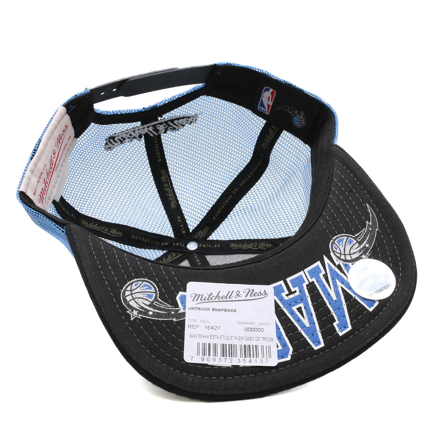 Boné Mitchell & Ness Trucker Snapback Orlando Magic Azul Royal / Preto