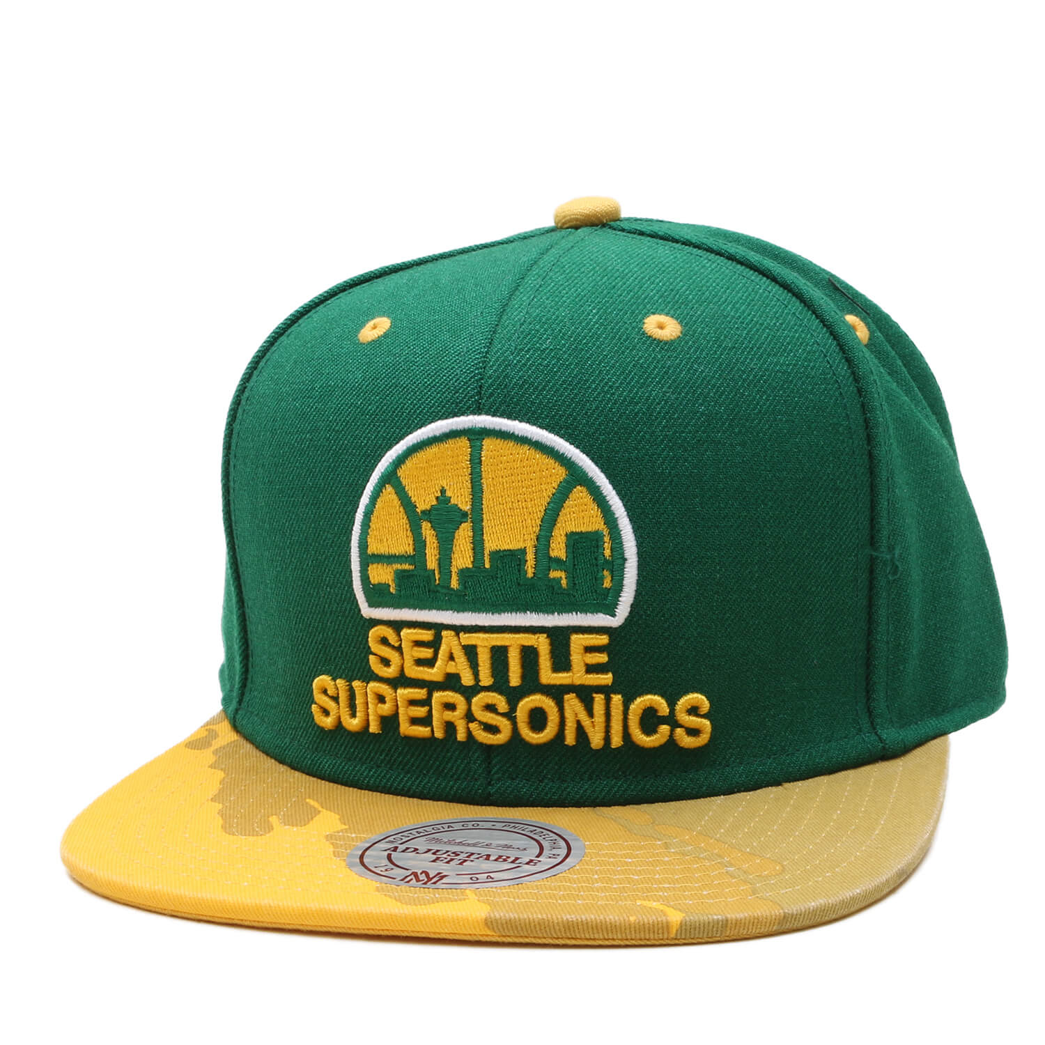 Boné Mitchell & Ness Snapback Seattle Supersonics Verde / Amarelo
