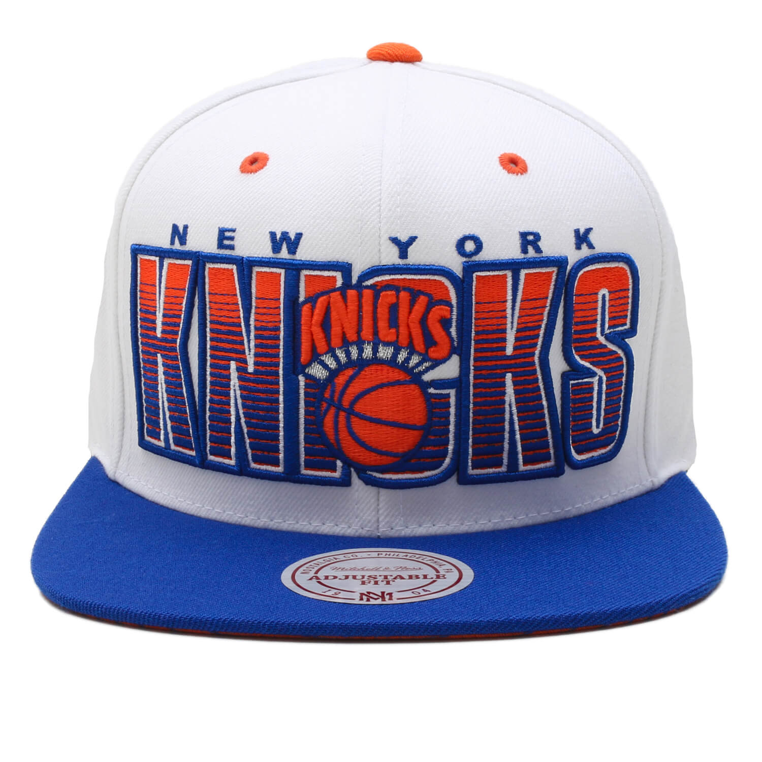 Boné Mitchell & Ness Snapback New York Knicks Branco / Azul