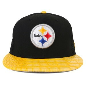 Boné New Era 9Fifty Original Fit Strapback Pittsburgh Steelers Preto/Yellow