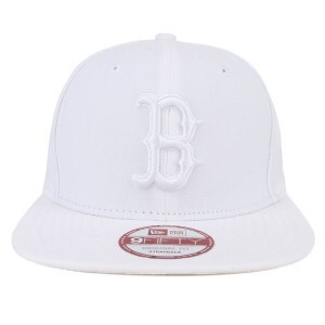 Boné New Era 9Fifty Original Fit Strapback Boston Red Sox Tradicional Branco/Branco