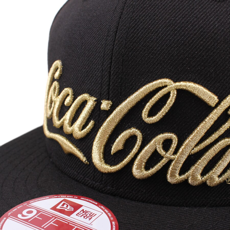 Boné New Era 9FIFTY Snapback Coca Cola Script Black/Gold