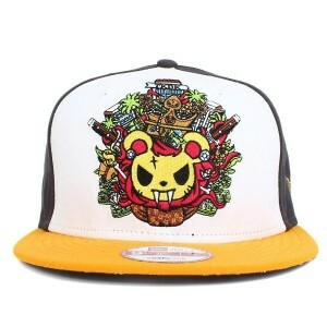 Boné Tokidoki New Era 9Fifty Snapback Grey/White/Yellow