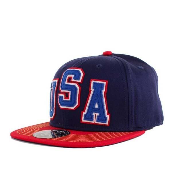 Boné Official Snapback USA Navy/Red