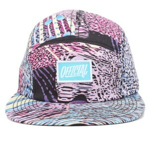 Boné Official Five Panel Strapback Script Logo Multicolorido