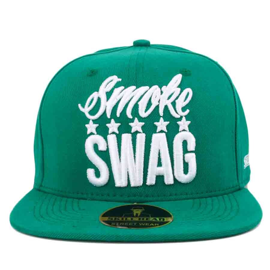 Boné Skill Head x Mr Thug Snapback Smoke Swag Five Stars Verde
