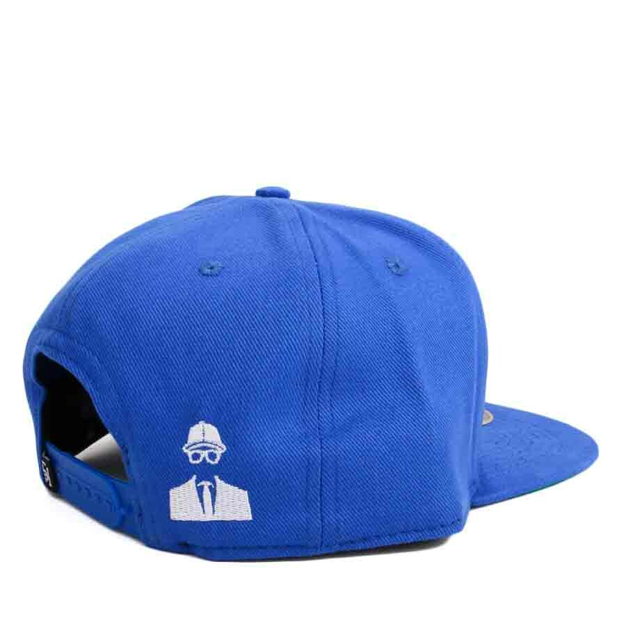 Boné Rege x Mr Thug Snapback Smoke Swag Five Stars Azul Royal
