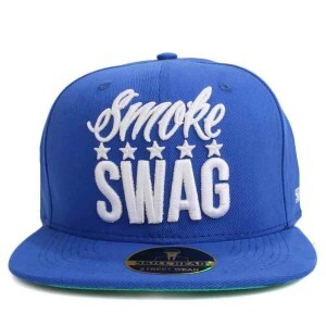 Boné Skill Head x Mr Thug Snapback Smoke Swag Five Stars Azul Royal