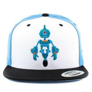 Boné True Heart Snapback Robot Heart Blue/ White/ Black