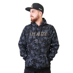 Moletom Cayler And Sons GL Legalize It Hoody Black Leaves/Gold