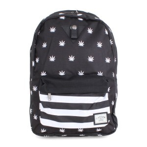 Mochila Cayler And Sons Budz N Stripes Black/White