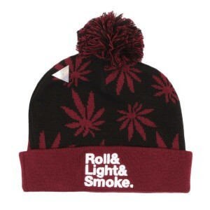 Gorro Cayler and Sons Roll Light Smoke Preto/Vinho