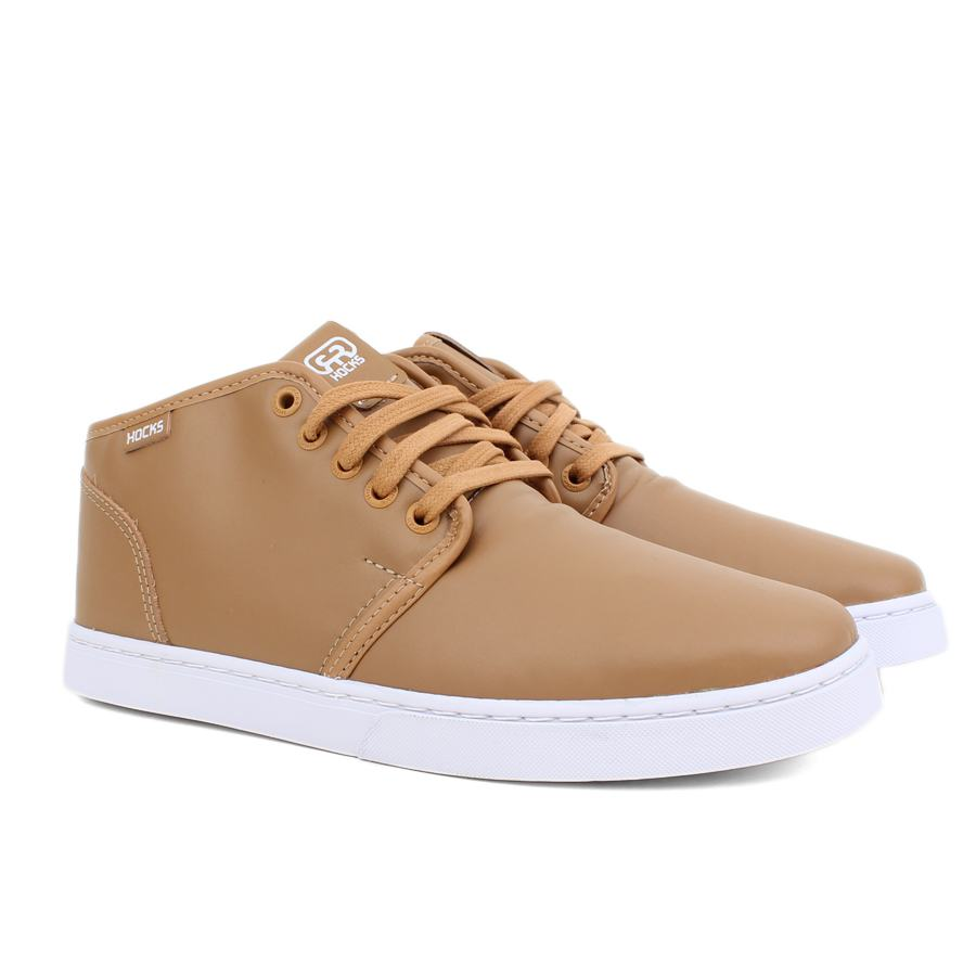 Tênis Hocks Mid Slim Tan