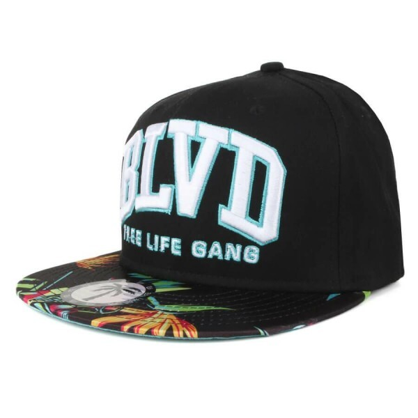 Boné BLVD Supply Snapback Paradise Arc Preto
