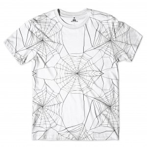 Camiseta Rege Spider Full Print Branco