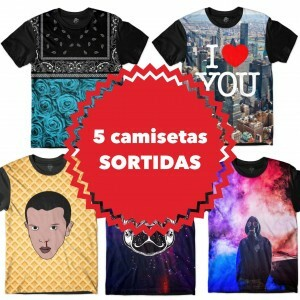 KIT COM 5 CAMISETAS SORTIDAS - TOP MARCAS
