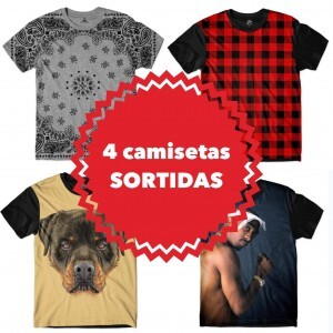 KIT COM 4 CAMISETAS SORTIDAS - TOP MARCAS