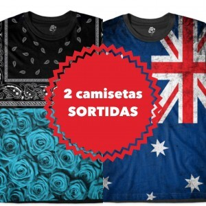 KIT COM 2 CAMISETAS SORTIDAS - TOP MARCAS