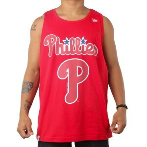 Camiseta New Era Regata Philadelphia Phillies Red