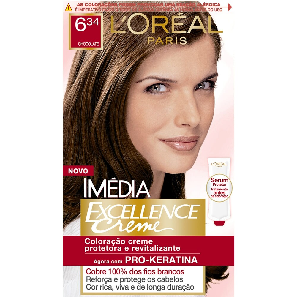 Tintura LOreal Paris Imédia Excellence 6.34 Chocolate