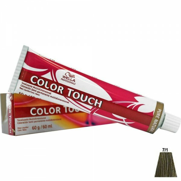 Tonalizante Wella Color Touch 7.1 Louro Médio Acinzentado - 60ml