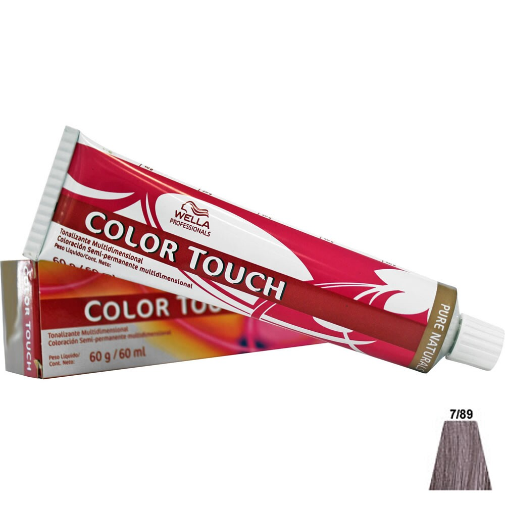 Tonalizante Wella Color Touch 7.89 Louro Médio Perola Cendré  - 60ml