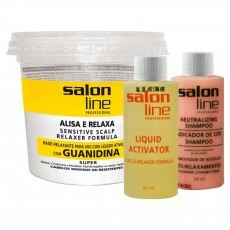 Kit Salon Line Sensitive Scalp Guanidina Cabelos Grossos ou Resistentes - 215ml