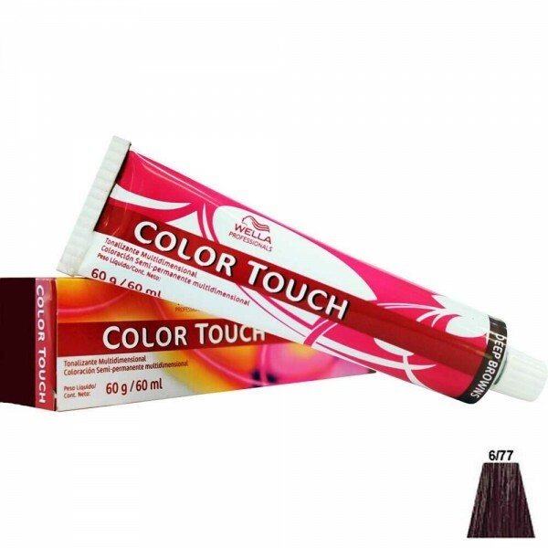 Tonalizante Wella Color Touch 6.77 Louro Escuro Marrom Intenso - 60ml