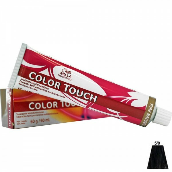 Tonalizante Wella Color Touch 5.0 Castanho Claro - 60ml