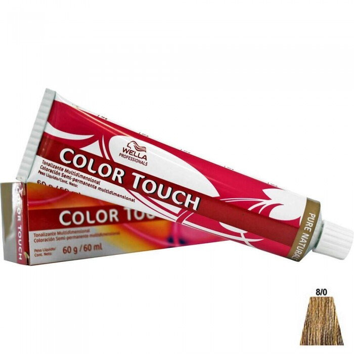 Tonalizante Wella Color Touch 8.0 Louro Claro - 60ml