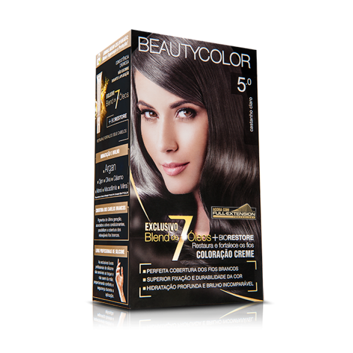 Tintura Beauty Color Kit 5.0 Castanho Claro