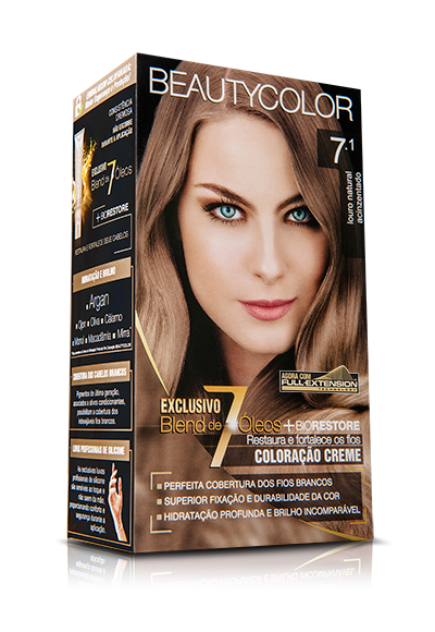 Tintura Beauty Color Kit 7.1 Louro Natural Acinzentado