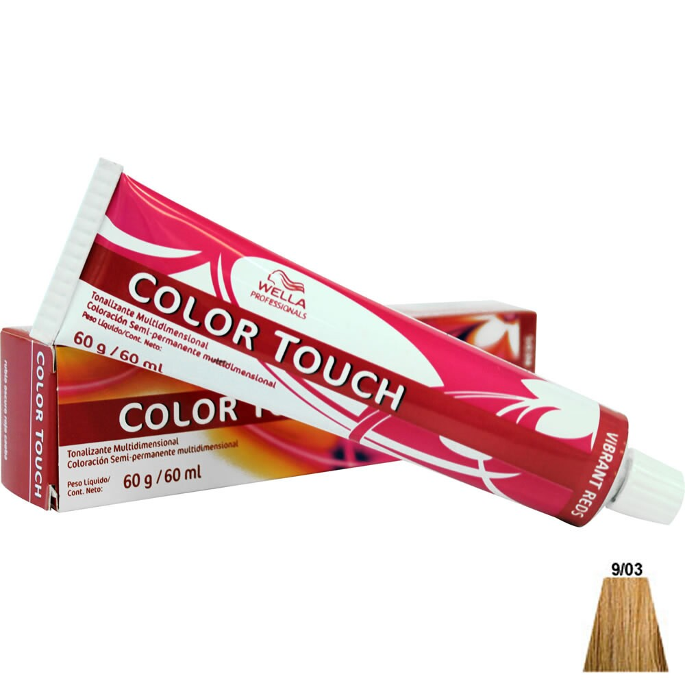 Tonalizante Wella Color Touch 9.03 Louro Ultraclaro Natural Dourado - 60ml