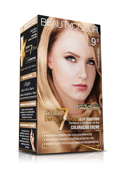 Tintura Beauty Color Kit 9.0 Louro Muito Claro