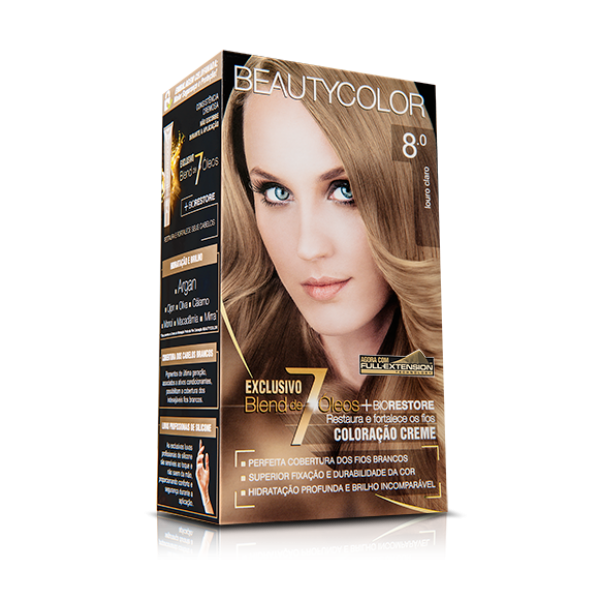 Tintura Beauty Color Kit 8.0 Louro Claro