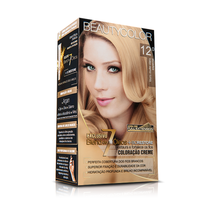 Tintura Beauty Color Kit 12.0 Louro Muito Claro Especial