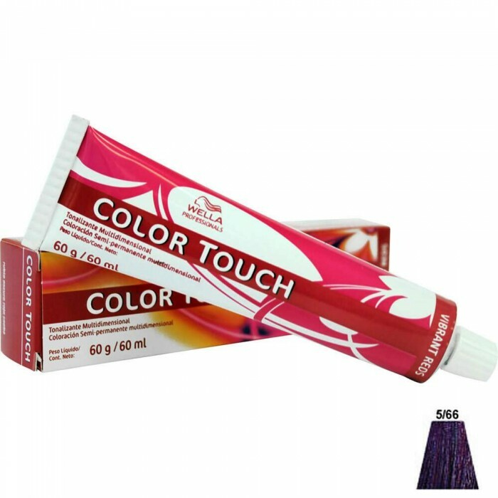 Tonalizante Wella Color Touch 5.66 Castanho Claro Violeta Intenso - 60ml