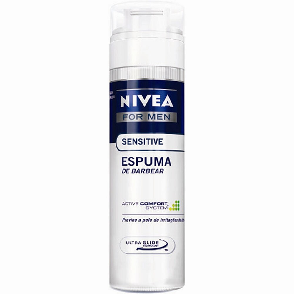 Espuma de Barbear Nivea For Men Sensivite - 200ml