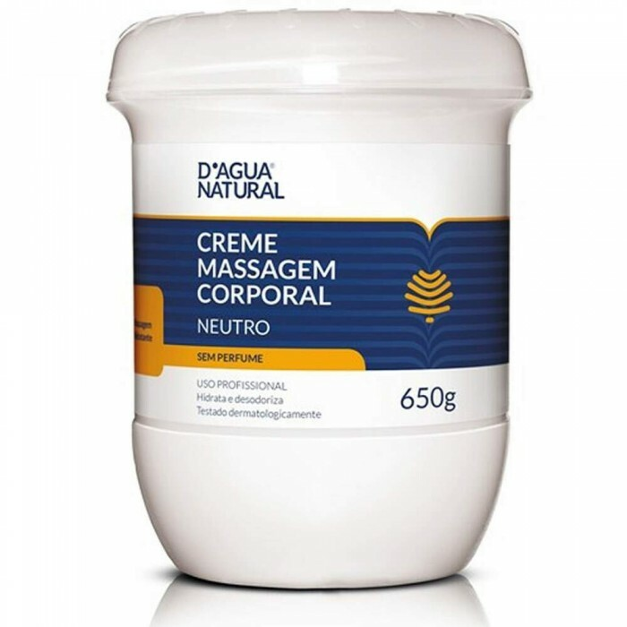 Creme de Massagem Corporal Dagua Natural Neutro - 650g
