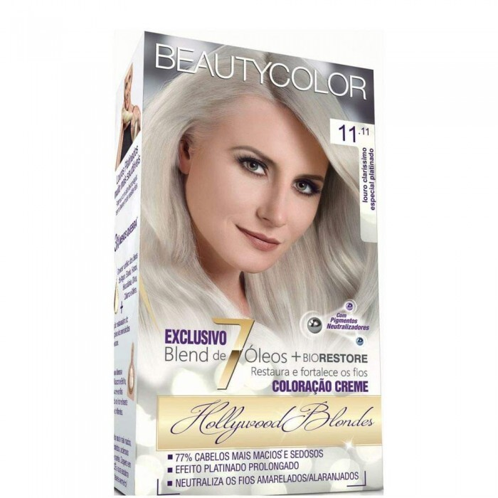 Tintura Beauty Color Kit 11.11 Louro Clarissimo Especial Platinado