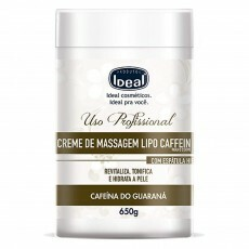 Creme de Massagem Corporal Ideal Lipo Caffein Cafeína do Guarana - 650g