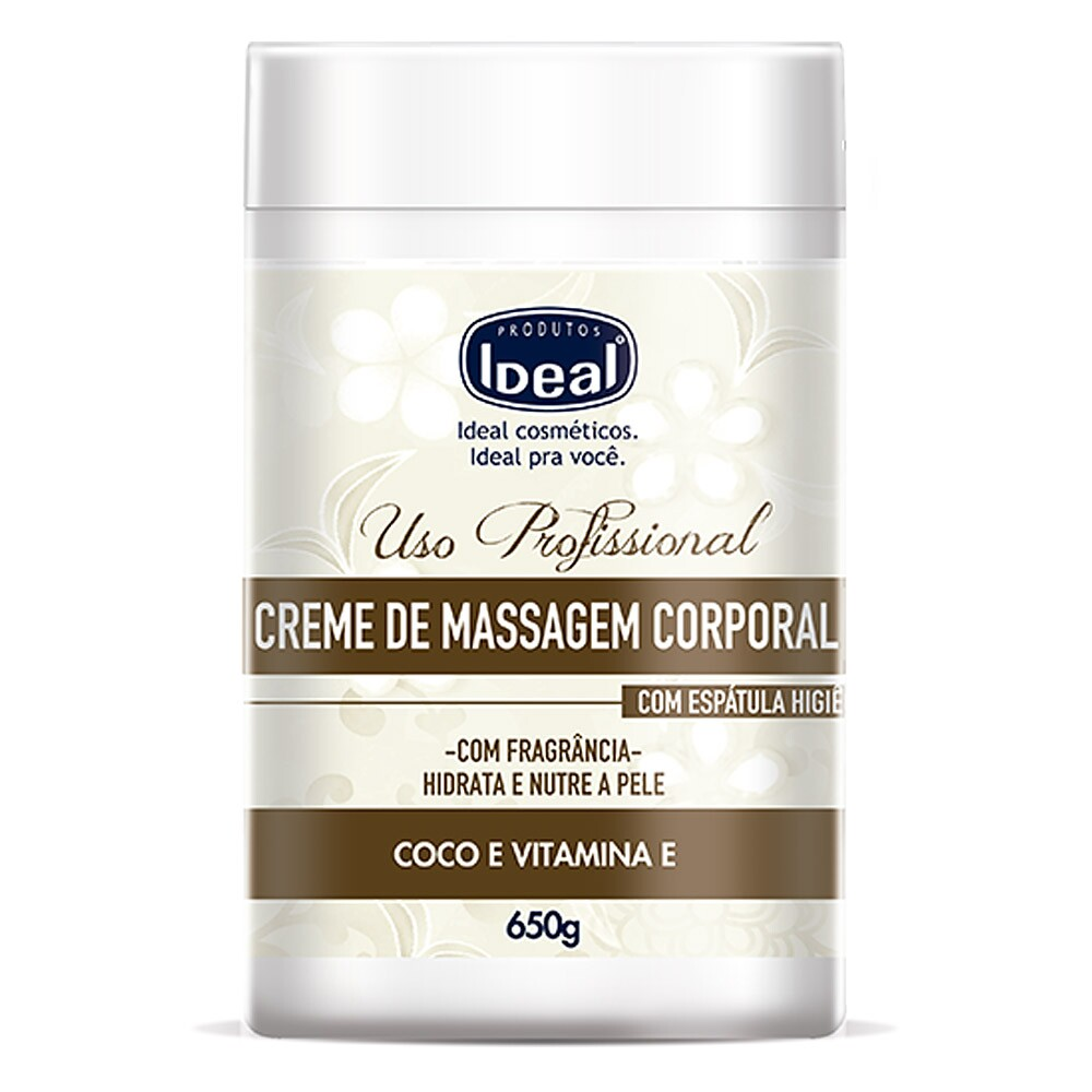 Creme de Massagem Corporal Ideal Coco e Vitamina E - 650g