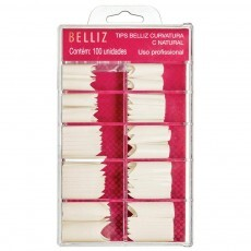 Kit de Unhas Tips Belliz Curvatura C Natural 100un - 1297
