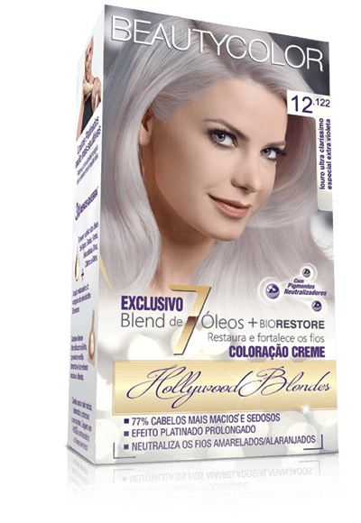 Tintura Beauty Color Kit 12.122 Louro Ultra Clarissimo Especial Extra Violeta