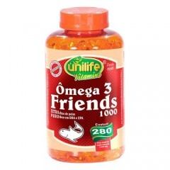 Ômega 3 Friends Unilife 280 cápsulas