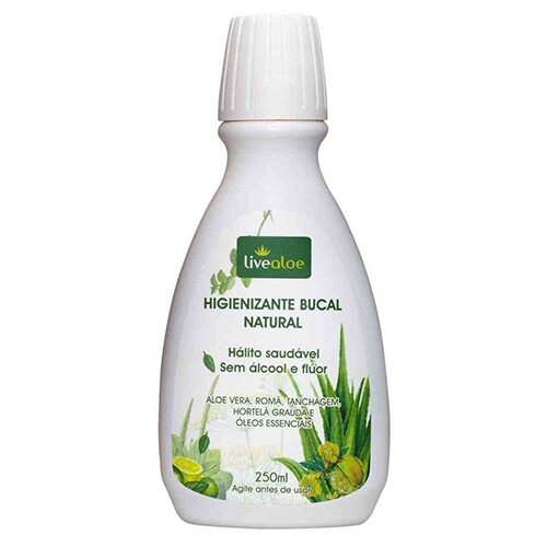 Higienizante Bucal Natural Livealoe 250ml